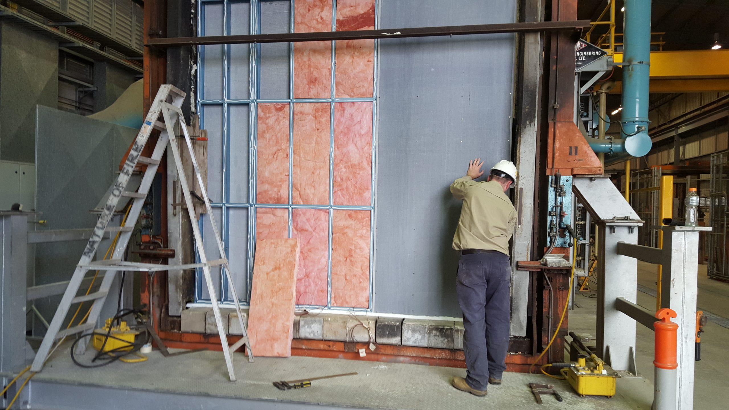 FireCrunch K-Wall Steel Frame Assembly CSIRO Test Centre